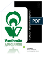 Summer Internship Report - Vardhman