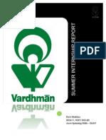 Summer Internship Report - Vardhman