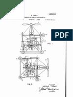 US Patent 1655114 - Nikola Tesla - Apparatus for Aerial Transportation (1927)