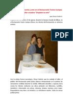 """Taller Creativo """"Emplata tu arte"""" - Restaurante Atril20uno  Teatro Campos Eliseos"""