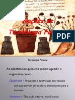 Aula20 - Noções de Toxicologia Forense
