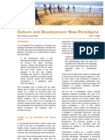 2009 02 Culture and Development - Synexe Knowledge Note