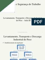 Levantamento, Transporte e Descarga Industrial de Peso