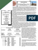 St. Michael's September 9, 2012 Bulletin