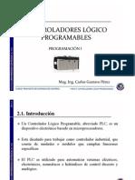 Programación I PLC- Carlos Gustavo Pérez Zuñiga