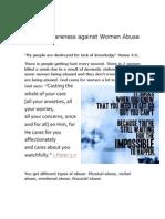 Raising Awareness Against Women Abuse