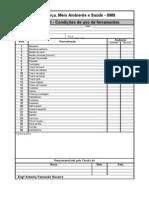 Check List sobre as condições de uso de ferramentas portáteis