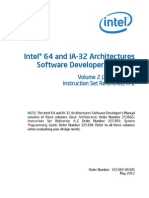 Intel Instruction Set as l Language