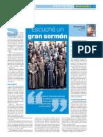 Sermón de un franciscano, se queja de falta de vocación