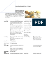 Classification and Uses of Sugar