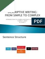 Descriptive Writing_Complex Sentences
