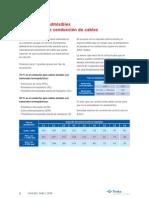 Tabla Corrientes Admisibles Cables