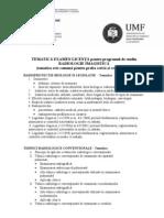 Tematica licenta Radiologie 2011