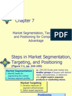 07 -Market Segmentation Positioning and Targeting