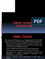 Summer Training Guidelines