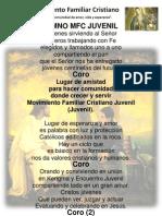 Letra Himno MFC Juvenil