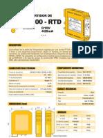 01a- Convertidor Pt100-RTD (Salida 0-10V, 4-20mA)