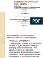 Management of Information Services in Digital Environment