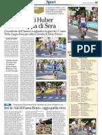 Coppa Rosa e Coppa di Sera, 8 settembre 2012, articoli de L'Adige