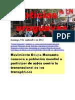 Noticias Uruguayas Domingo 9 de Setiembre Del 2012