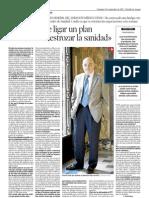 Heraldo de Aragón entrevista al Dr. Lorenzo Arracó, secretario general de CESMAragón (9/9/12)