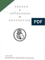 Manuale Autodifesa Travestito 1974