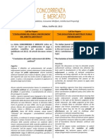 Concorrenza e Mercato - Call for Papers 2013