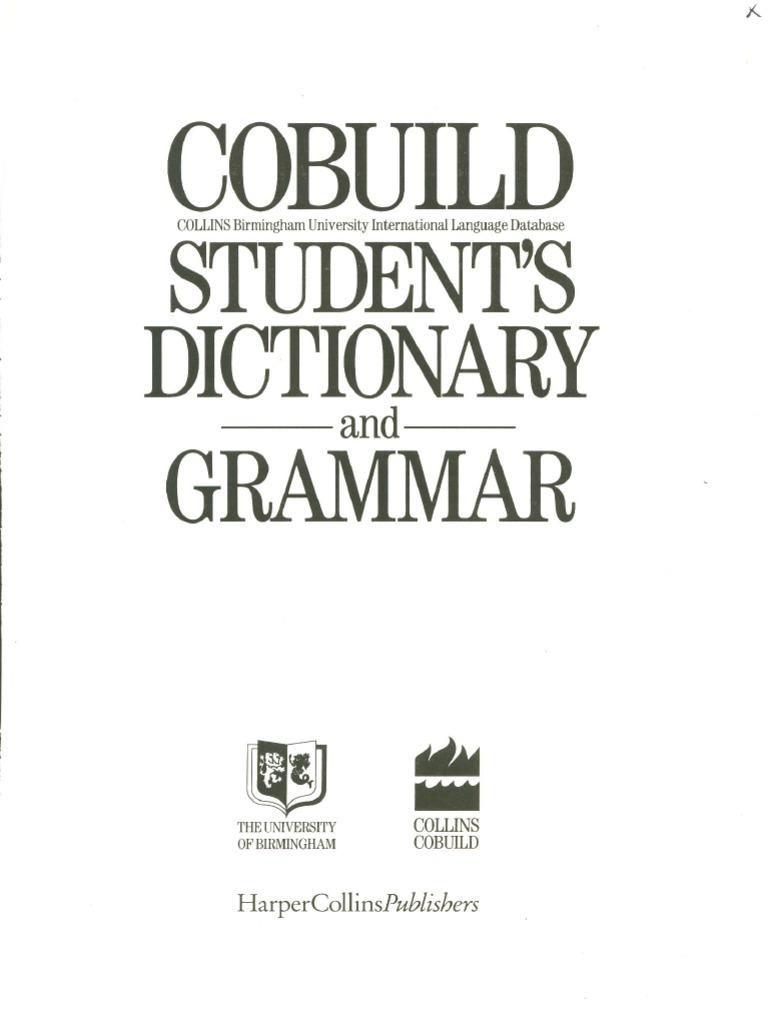 Cobuild Student's Dictionary and Grammar