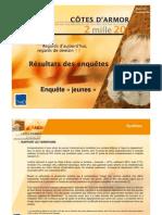 TMO Régions - CG 22 Démarche Côtes d'Armor 2020 - Enquête Auprès Des Jeunes