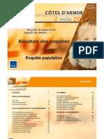 TMO Régions - CG 22 Démarche Côtes d'Armor 2020 - Enquête Auprès de La Population