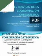 EL SERVICIO DE LA COORDINACIÓN CATEQUÍSTICA
