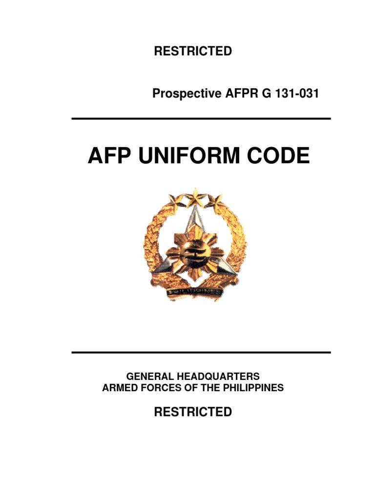 c96a5edd044 Afp Uniform Code