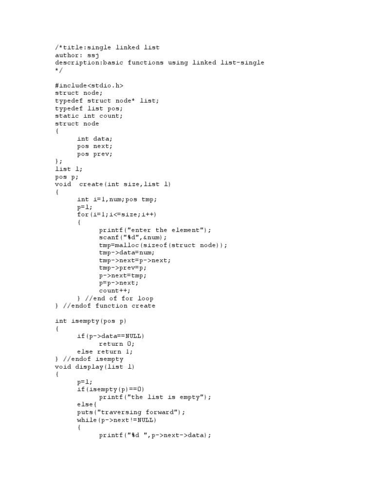 doubly linked list computer programming algorithms and data