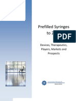 Prefilled Syringes to 2016 - Report Prospectus