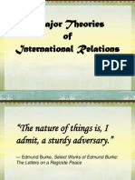 Major Theories of International Relations