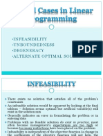 Special Cases in Linear Programming