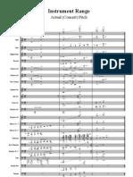 Range for transposing instruments