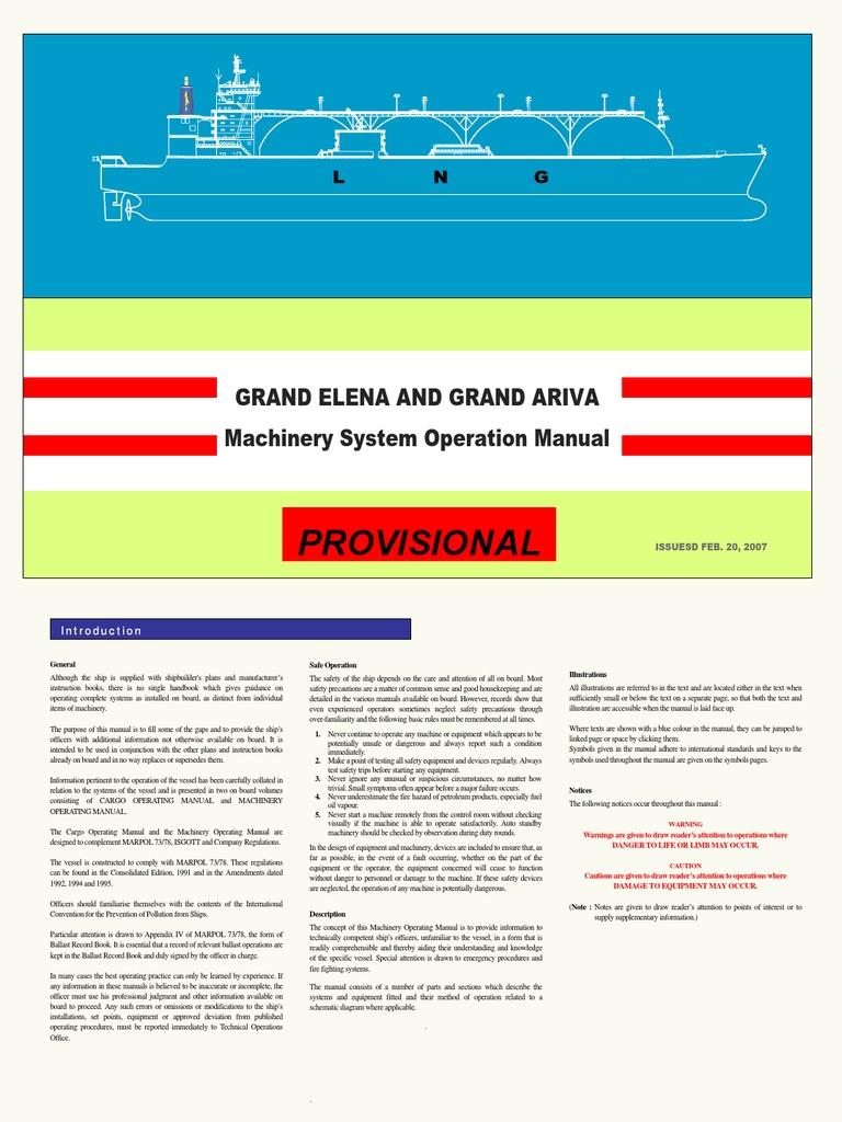 Firefighting Manual For Tank Vessels Mitsubishi 1994 Pajero 28td Fuse Box Diagram Array Lngc Machinery System Operation Boiler Steam Rh Scribd