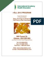Fall 2012 IAHEC Courses