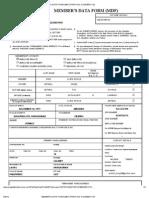 Member's Data Form (Mdf) Print (No912253051110
