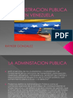 Administracion Publica en Venezuela Presentacion