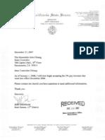 Denham Accepting Pay Raise Letter 2 - 12/27/07