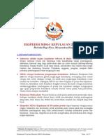 Ringkasan Ekspedisi MDGs Kepulauan 2008-2009
