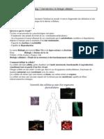 Introduction à la biologie cellulaire 1