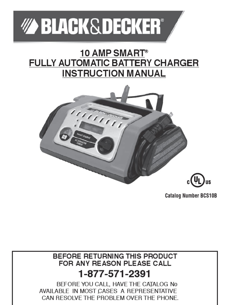 Black Decker 10 Amp Battery Charger Battery Charger Battery