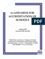 Standards for Accreditation-Schools _2010