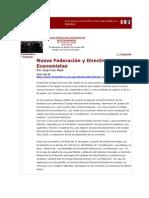 LERA. Nueva Federación y Directiva de los Economistas. 8.9.12