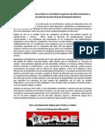 Frente a los hechos represivos ocurridos en el INSAT, Valdivia.
