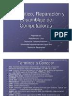 Diagnostico Reparacion y Ensamblaje de Computadoras