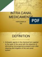 Intercanal Medicament